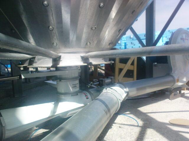 αερομεταφορά με blower και injector